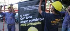 Argentina: Trabajadores de la construcción marcharon para exigir mayores medidas de seguridad laboral