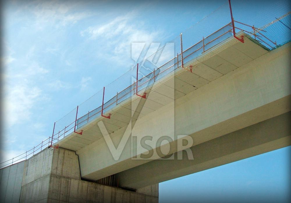 Visor Redes de Seguridad - Sistemas de protección colectiva especiales para puentes y viaductos