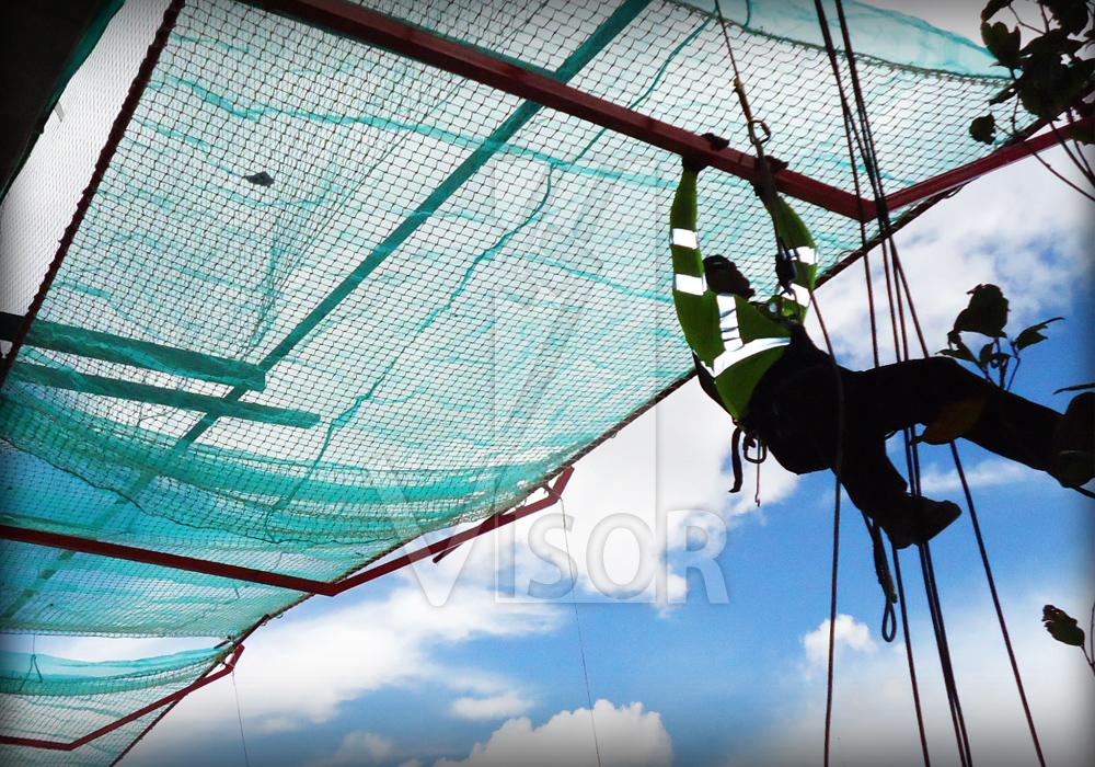 Visor Redes de seguridad - Instalación de Rede de seguridad para construcción