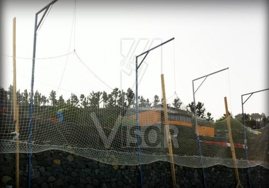 Visor-Redes-de.Seguridad-Tramo-Carretera-Tajuya-Canarias-procedimiento-instalacion-redes-tipo-V-al-muro