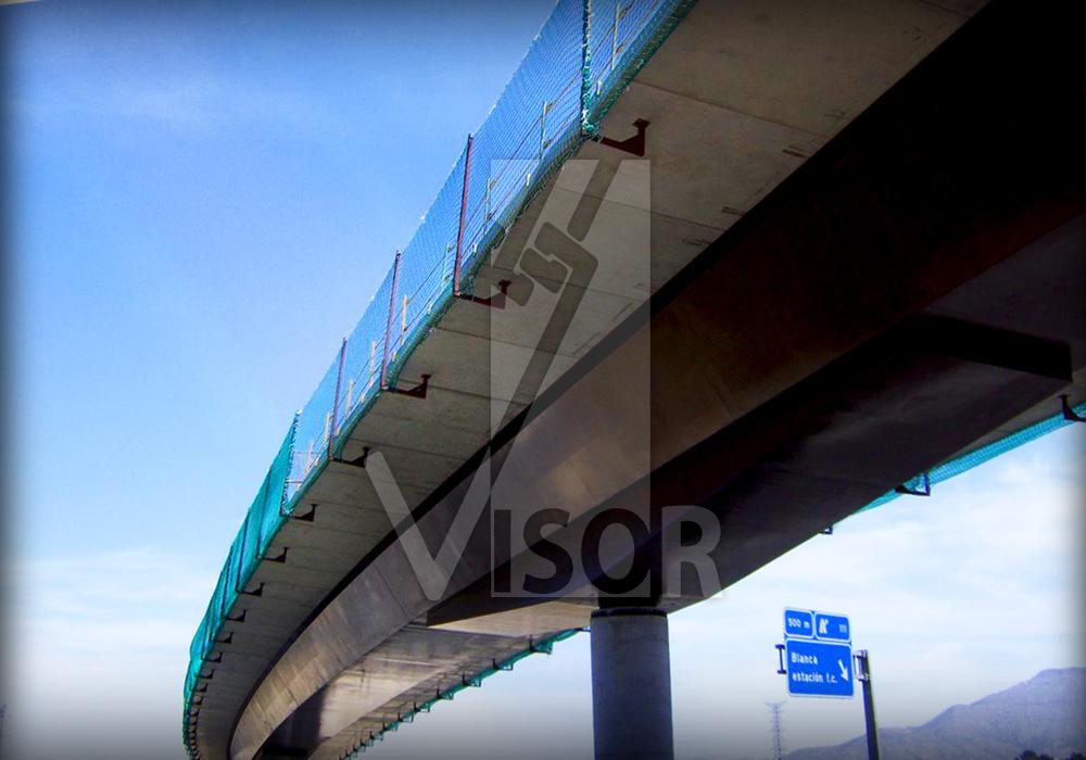 Visor Redes de Seguridad Puentes y Viaductos - Sistema anclaje a vigas doble T