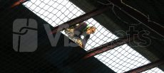 Redes de seguridad para cubiertas frágiles